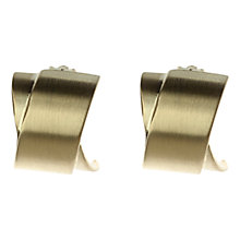 Buy Adele Marie Brushed Finish Crossover Clip-on Earrings Online at johnlewis.com