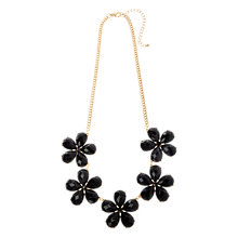 Buy Adele Marie Resin Flower Necklace, Jet Black Online at johnlewis.com