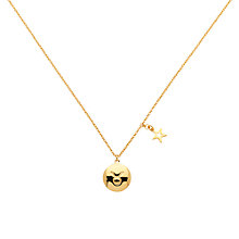 Buy Melissa Odabash Gold & Emerald Taurus Pendant, Gold Online at johnlewis.com