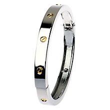 Buy Adele Marie Hinged Bangle, Gold/Silver Online at johnlewis.com