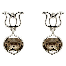 Buy Melissa Odabash Lotus Earrings, Silver Online at johnlewis.com
