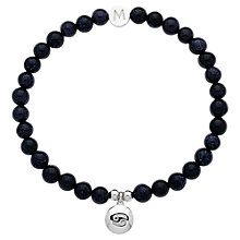 Buy Melissa Odabash Rhodium & Ruby Cancer Bracelet, Blue Online at johnlewis.com