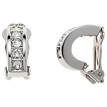 Buy Finesse Rhodium Plated Swarovski Crystal Half Hoop Clip-On Earrings, Silver Online at johnlewis.com