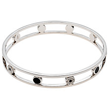 Buy Finesse Rhodium Plated Swarovski Crystal Enamel Open Bracelet, Silver Online at johnlewis.com