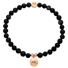 Buy Melissa Odabash Rose Gold & Pearl Gemini Bracelet, Blue Online at johnlewis.com