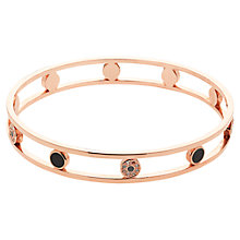 Buy Finesse Swarovski Crystal & Enamel Openwork Bangle, Rose Gold Online at johnlewis.com