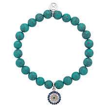 Buy Melissa Odabash Rhinestone Stretch Bracelet, Blue Online at johnlewis.com