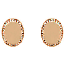 Buy Finesse Swarovski Crystal Oval Clip Earrings, Rose Gold Online at johnlewis.com