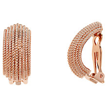 Buy Finesse Textured Clip-On Earrings, Rose Gold Online at johnlewis.com