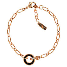 Buy Finesse Swarovski Crystal and Enamel Hoop Bracelet, Rose Gold Online at johnlewis.com