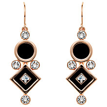 Buy Finesse Rose Gold Plated Swarovski Crystal Enamel Drop Earrings, Gold Online at johnlewis.com