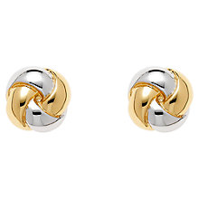 Buy Finesse Rhodium And Gold Plated Stud Earrings, Gold Online at johnlewis.com