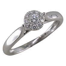Buy EWA 18ct White Gold Diamond Cluster Ring, White Gold Online at johnlewis.com