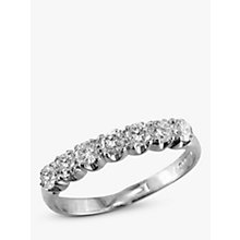 Buy EWA 18ct White Gold Diamond Half Eternity Ring, White Gold Online at johnlewis.com