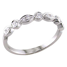 Buy EWA 18ct White Gold 0.25ct Marquise and Round Cut Diamond Half Eternity Ring, Size N Online at johnlewis.com