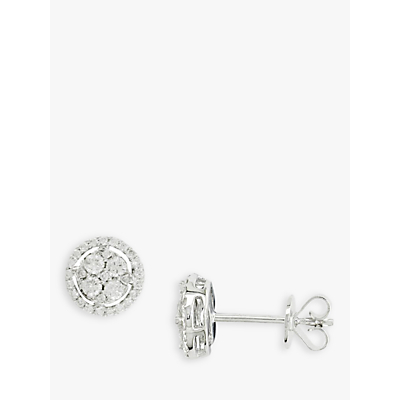 EWA 18ct White Gold Diamond Cluster Earrings