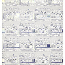 Buy John Lewis Nordic Houses Wallpaper, Blue Online at johnlewis.com