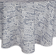 Buy John Lewis Nordic Coast Round Tablecloth, Dia.180cm Online at johnlewis.com