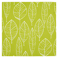 Buy John Lewis Aspen Leaf Napkins, Set of 4, Green Online at johnlewis.com