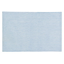 Buy John Lewis Seersucker Placemats, Set of 2, Blue Online at johnlewis.com