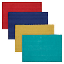 Buy John Lewis Alfresco Ribbed Mixed Placemats, Set of 4 Online at johnlewis.com