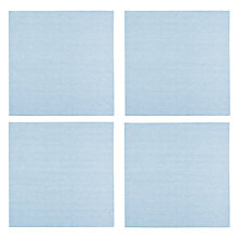 Buy John Lewis Seersucker Napkins, Set of 4, Blue Online at johnlewis.com