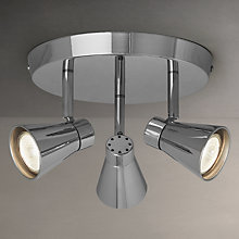 Buy John Lewis Logan Triple Spotlight, Chrome Online at johnlewis.com