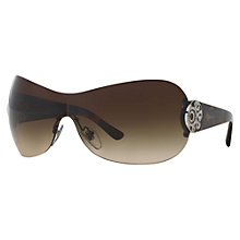 Buy Bvlgari BV6074B Rectangular Sunglasses, Silver Online at johnlewis.com