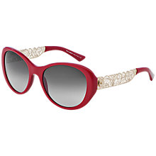 Buy Dolce & Gabbana DG4213 Cat's Eye Sunglasses, Red Online at johnlewis.com