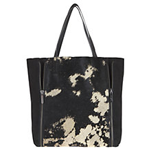 Buy Mint Velvet Alita Leather Shopper, Black Online at johnlewis.com