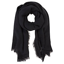 Buy Mint Velvet Textured Scarf, Navy Online at johnlewis.com