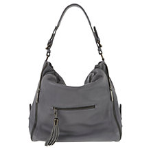 Buy Mint Velvet Steel Rosie Slouch Bag, Charcoal Online at johnlewis.com