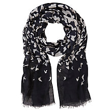 Buy Mint Velvet Autumn Print Scarf, Navy Online at johnlewis.com
