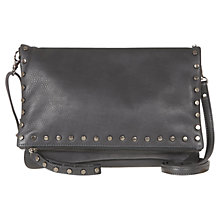 Buy Mint Velvet Hannah Leather Stud Bag, Charcoal Online at johnlewis.com