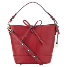 Buy Jigsaw Mini Leather Bucket Bag, Red Online at johnlewis.com