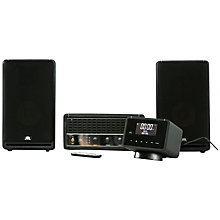 Buy Fatman S-State 60 Amplifier with DAB-01 Radio Unit & Speakers, Black Leather Online at johnlewis.com