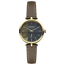 Buy Barbour BB011GDGR Women's Bradnell Leather Strap Watch, Khaki Online at johnlewis.com