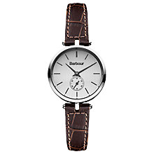 Buy Barbour Women's Bradnell Leather Strap Watch Online at johnlewis.com