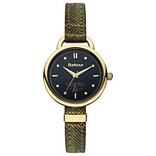 Buy Barbour BB006GD Women's Clover Leather Strap Watch Online at johnlewis.com