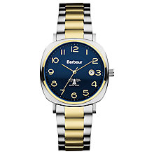 Buy Barbour Bb018sltt Men's Beauson Bracelet Strap Watch, Gold/Silver/Blue Online at johnlewis.com