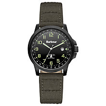 Buy Barbour BB020SLGR Men's Swale Watch, Green Online at johnlewis.com
