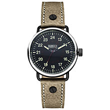 Buy Barbour BB022BKBR Men's International Fowler Watch, Black/Brown Online at johnlewis.com