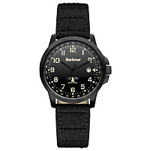 Buy Barbour BB020BKBK Men's Swale Watch, Black Online at johnlewis.com
