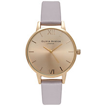 Buy Olivia Burton Women's Midi Leather Strap Watch Online at johnlewis.com
