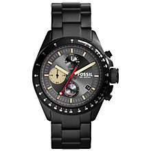 Buy Fossil Ch2942 Men's Decker Bracelet Strap Watch, Black/Grey Online at johnlewis.com