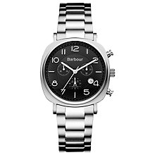 Buy Barbour BB019SL Men's Beacon Chronograph Watch, Silver Online at johnlewis.com
