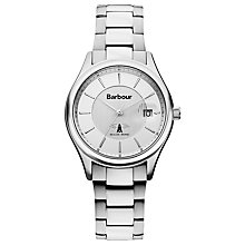 Buy Barbour Bb016sl Men's Akenside Bracelet Strap Watch, Silver Online at johnlewis.com