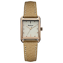 Buy Barbour BB013RSBG Women's Downham Leather Strap Watch, Beige/Grey Online at johnlewis.com
