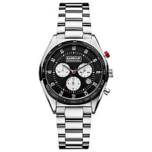 Buy Barbour BB019SL Men's International Boswell Chronograph Watch, Silver Online at johnlewis.com