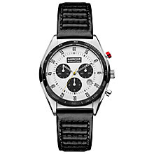 Buy Barbour BB025WHBK Men's International Boswell Chronograph Watch, Black/White Online at johnlewis.com
